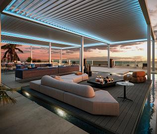 AXIS MAX kantelbaar lamellen dak
