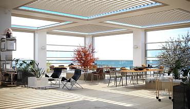 Aerolux Inschuifbaar lamellen dak (+ kantelbare lamellen)