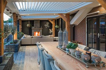 Rota kantelbaar lamellen dak inbouw