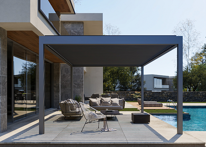 Rota kantelbaar lamellen dak